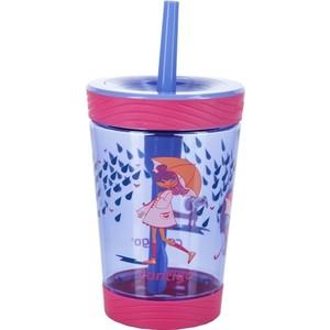 Детский стакан для воды с трубочкой 0.42 л Contigo contigo0771 розовый термокружка 0 47 л contigo west loop 0016 розовый