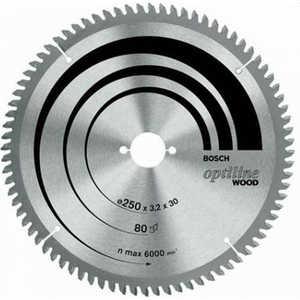 Диск пильный Bosch 254х30мм 60зубьев Optiline Wood (2.608.640.444)  диск пильный 190х24х30 мм optiline bosch профи