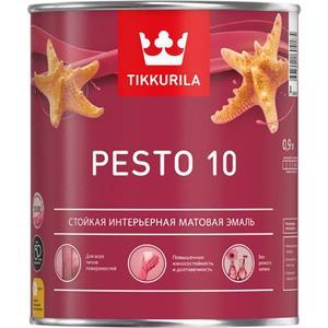 где купить  Эмаль алкидная TIKKURILA Pesto 10 ( Песто 10 ) база А 0.9л.  по лучшей цене