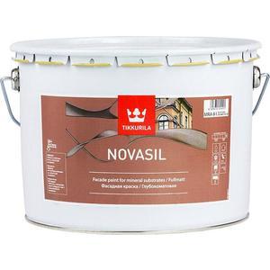 Краска в/д фасадная TIKKURILA Novasil ( Новасил ) база MRA 2.7л. краска фасадная силоксановая матовая база b2 белинка 1 86л