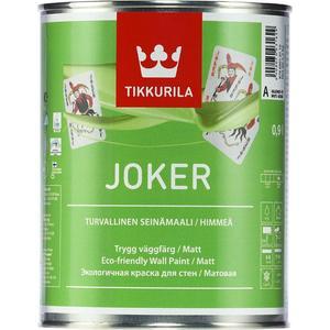 Краска в/д TIKKURILA Joker ( Джокер ) гипоаллергенная интерьерная база С 0.9л. краска в д tikkurila perfecta a интерьерная 9л гл мат белая