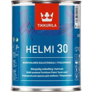 Краска в/д TIKKURILA Helmi 30 ( Хелми 30 ) для мебели база С 0.9л.
