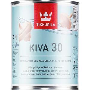 Лак для мебели TIKKURILA Kiva 30 ( Кива ) полуматовый база EC 2.7л.