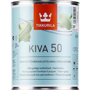 Лак для мебели TIKKURILA Kiva 50 ( Кива ) полуглянцевый база ЕС 2.7л.