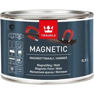 Краска магнитная TIKKURILA Magnetic ( Магнетик ) серая 0.5л.