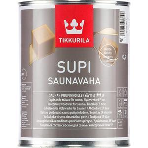 Воск защитный для сауны TIKKURILA Supi Saunavaha ( Супи Саунаваха) 0.225л.  состав для полка tikkurila supi laudesuoja защитный бесцветный 1л