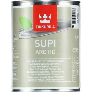 Защитный состав для сауны TIKKURILA Supi Arctic ( Супи Арктик ) перламутровый 0.9л.  состав для полка tikkurila supi laudesuoja защитный бесцветный 1л