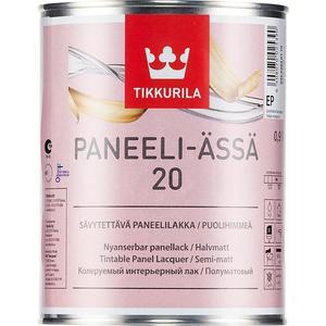 Лак для древесины TIKKURILA Paneeli-Assa 20 ( Панели-Ясся ) полуматовый база ЕР 9л. защитный состав для древесины tikkurila paneeli assa панели ясся база ер 9л