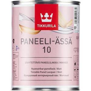 Лак для древесины TIKKURILA Paneeli-Assa 10 ( Панели-Ясся ) матовый база ЕР 9л. лак водоразбавляемый tikkurila paneeli assa основа ep матовый 2 7 л