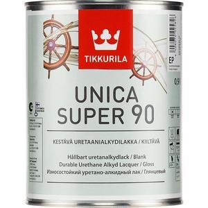 Лак для древесины TIKKURILA Unica Super 90 ( Уника Супер ) глянцевый база ЕР 0.9л.
