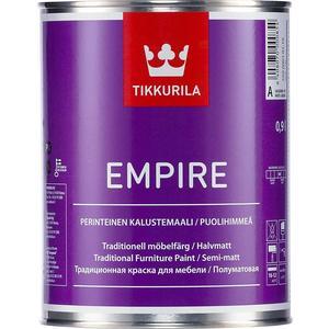 Краска для мебели TIKKURILA Empire ( Эмпире ) полуматов. база С 2.7л. краска tikkurila empire для мебели полуматовая с 2 7л
