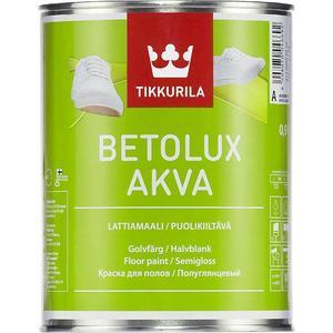 Краска в/д для пола TIKKURILA Betolux Akva ( Бетолюкс Аква ) полуглянц. база А 9л. краска для мебели tikkurila empire эмпире полуматов база а 9л