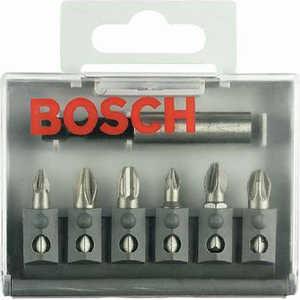 Набор бит Bosch 6шт + универсальный держатель (2.607.001.938)