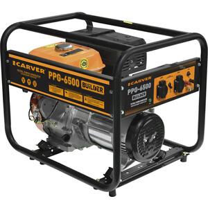 Генератор бензиновый Carver PPG- 6500 BUILDER комплект транспортировочный carver для генераторов ppg 3600 8000е 01 020 00014