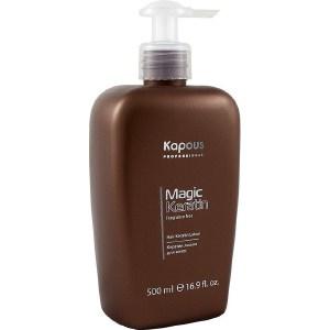 Kapous Magic Keratin Кератин лосьон для волос серии Magic Keratin 500 мл kapous magic keratin крем краска для волос non amonnia na 5 3 светлый коричнево золотистый 100 мл