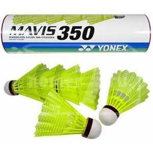 Воланы (пластик) для бадминтона Yonex Mavis 350 Yellow-Middle (Mavis 350) воланы для бадминтона adidas d training 79 перо быстрая скорость