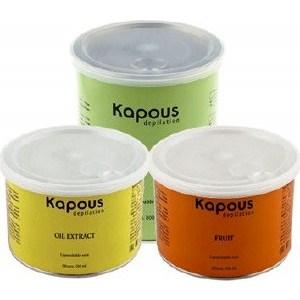 Kapous Жирорастворимый воск Зеленый с Хлорофиллом Банка 800 мл