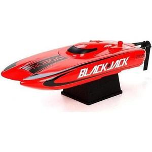 Радиоуправляемый катамаран ProBoat Blackjack 9 2.4G радиоуправляемый катер proboat react 17 deep v rtr 2 4g