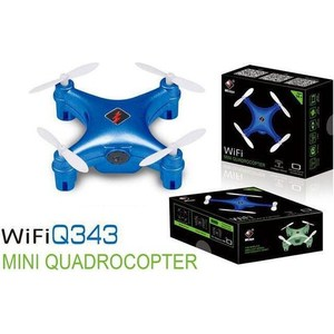 Радиоуправляемый квадрокоптер WL Toys Q343 Mini WiFi Quadcopter 112112 new 200w pixelate fold mini aircraft vehicle toys automatic return headless mode 2 4g 4ch 4 axis drone wifi rc 10cm