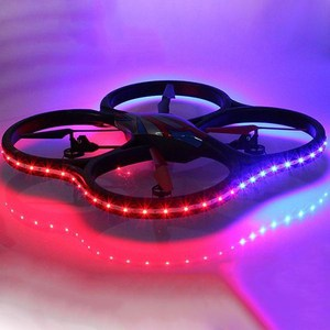 Радиоуправляемый квадрокоптер WL Toys UFO Drones V333 Headless Cyclone LED Edition 2.4G drones cd
