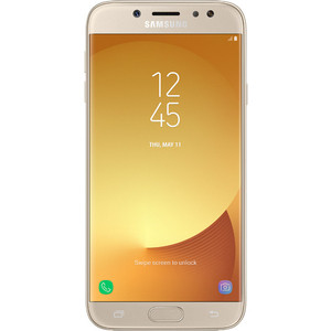 Смартфон Samsung Galaxy J7 (2017) 16Gb Gold смартфон samsung galaxy a7 2017 32gb gold