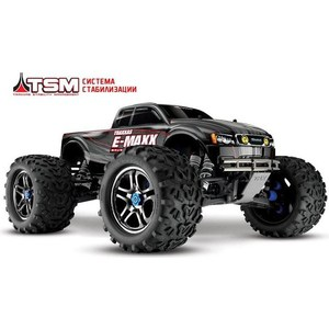 Радиоуправляемый монстр TRAXXAS E-Maxx TQi Ready to Bluetooth Module TSM 4WD ARR масштаб 1:10 2.4G for traxxas x maxx 4x4 upgrade parts aluminum rear knuckle arms hub carrier l r 7752 hop up