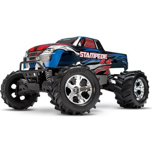 Радиоуправляемый монстр TRAXXAS Stampede (NEW Fast Charger) 4WD RTR масштаб 1:10 2.4G new 4pcs drift wheel rim and hard tires s for 1 10 traxxas tamiya kyosho hsp hpi 4wd rc on road drift car
