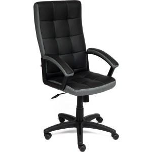 Офисное кресло TetChair TRENDY кож/зам/ткань, черный/серый, 36-6/12 кресло tetchair runner кож зам ткань черный жёлтый 36 6 tw 27 tw 12