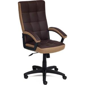 Офисное кресло TetChair TRENDY кож/зам/ткань, коричневый/бронза, 36-36/21 кресло tetchair сн767 кож зам коричневый 36 36