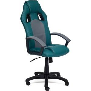 Офисное кресло TetChair DRIVER кож/зам+ткань, бирюзовый/серый, 36-27/12