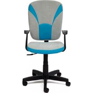 все цены на Офисное кресло TetChair OSTIN ткань, голубой/серый, 2613/12 онлайн