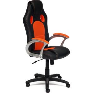 Офисное кресло TetChair RACER кож/зам/ткань, черный/оранжевый, 36-6/07