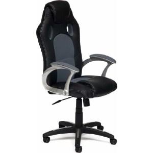 Офисное кресло TetChair RACER кож/зам/ткань, черный/серый, 36-6/12
