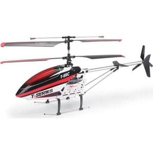Радиоуправляемый вертолет MJX T55 (красный) c FPV камерой 2.4G радиоуправляемый квадрокоптер с барометром mjx x601h g золотой fpv 2 4g x601h g mjx