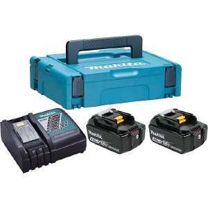 Набор аккумуляторов и зарядное устройство Makita 198310-8 комплект makita аккумулятор bl1840b li ion 18v 4ah слайдер х2шт зу dc18rc кейс macpac 198310 8