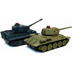 Радиоуправляемый танковый бой Huan Qi Т34 и Tiger масштаб 1:32 RTR радиоуправляемый танковый бой myx t34 tiger масштаб 1 28 27 40 мгц
