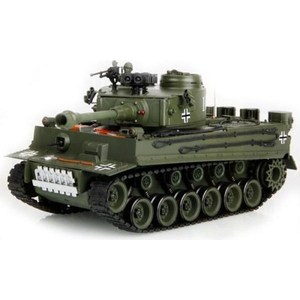 Радиоуправляемый танк HouseHold German Tiger Green масштаб 1:20 40Mhz самокат tech team tiger 2018 light green
