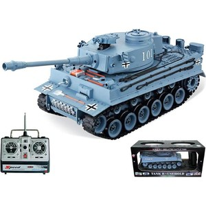 Радиоуправляемый танк HouseHold German Tiger Grey масштаб 1:20 40Mhz henglong 3818 3818 1 german tiger i 3819 3819 1 german panther 1 16 rc tank upgrade parts metal track metal driving wheels