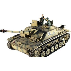 Радиоуправляемый танк Taigen Sturmgeschutz III масштаб 1:16 радиоуправляемый танк taigen m26 pershing snow leopard pro масштаб 1 16 2 4g
