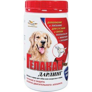 все цены на Добавка к корму GELACAN Дарлинг питание и защита опорно-двигательного аппарата для собак всех возрастов и пород 500г
