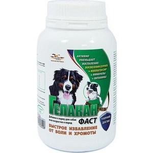 Добавка к корму GELACAN Фаст быстрое избавление от боли и хромоты для собак всех возрастов и пород 150г