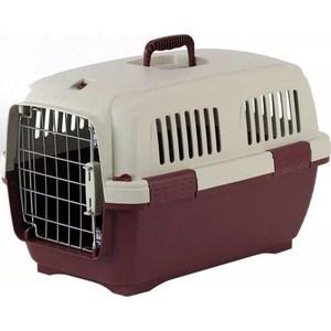 Переноска Marchioro CAYMAN 3 коричнево-бежевая 64x43x43h см для животных клетки для перевозки собак в машине недорого