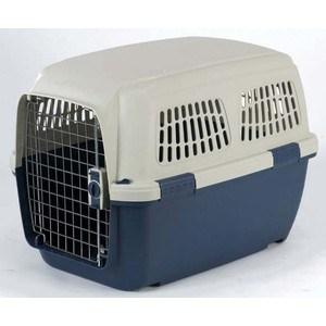Переноска Marchioro CAYMAN 4 сине-бежевая 71x50x51h см для животных клетки для перевозки собак в машине недорого