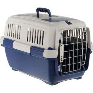 Переноска Marchioro TORTUGA 2 сине-бежевая 57x37x36h см для животных клетки для перевозки собак в машине недорого