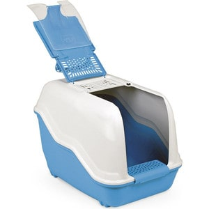 Био-туалет MPS NETTA с совком голубой 54x39x40h см для кошек