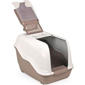 Био-туалет MPS NETTA с совком коричневый 54x39x40h см для кошек mps mps био туалет komoda 54х39х40h см с совком красного цвета