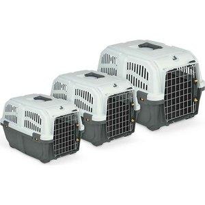 Переноска MPS SKUDO 1 с металлической дверцей серая 48x31,5x31h см для животных миска для домашних животных mps luna