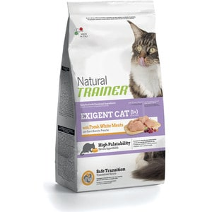 Сухой корм Trainer Natural Exigent Cat with Fresh White Meats со свежим белым мясом для привередливых кошек 1,5кг nillkin hollow out ultra thin protective tpu back cover case for iphone 6 blue transparent