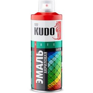 Эмаль акриловая аэрозоль KUDO САТИН RAL 3002 карминно-красная 520мл. (6)ku-0a3002