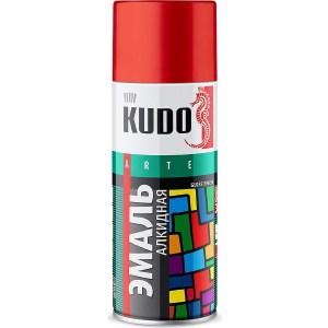 Эмаль алкидная аэрозоль KUDO красно-коричневая 520мл. (12)ku-1024